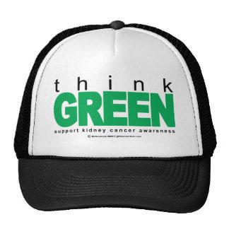 Kidney Cancer Think Green Trucker Hat