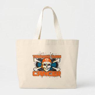 Kidney Cancer Tougher Than Cancer Skull 2 Canvas Bag
