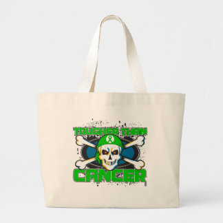 Kidney Cancer Tougher Than Cancer Skull Tote Bags