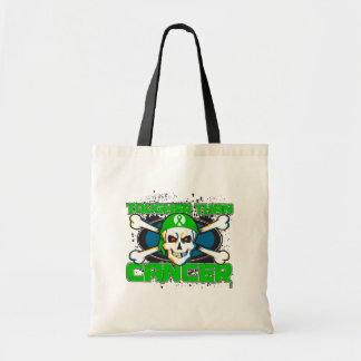 Kidney Cancer Tougher Than Cancer Skull Canvas Bags