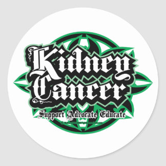 Kidney Cancer Tribal Classic Round Sticker