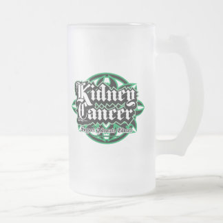 Kidney Cancer Tribal Frosted Glass Beer Mug