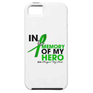 Kidney Cancer Tribute In Memory of My Hero (Green) iPhone 5 Covers