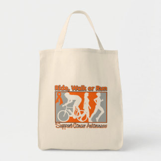 Kidney Cancer v2 Ride Walk Run Grocery Tote Bag