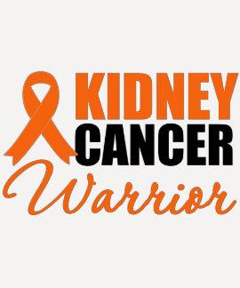 Kidney Cancer Warrior Awareness Ribbon Tee Shirt