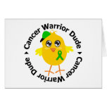Kidney Cancer Warrior Dude 1 Greeting Cards