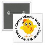 Kidney Cancer Warrior Dude 2 Button
