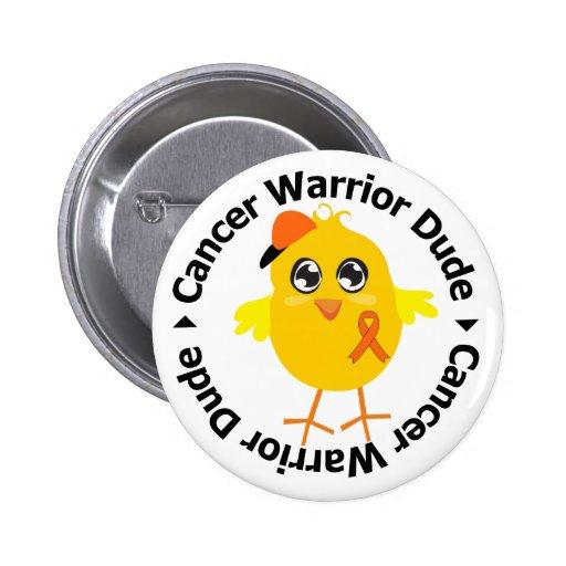 Kidney Cancer Warrior Dude 2 Pinback Button