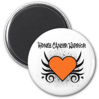 Kidney Cancer Warrior Heart 2 Inch Round Magnet