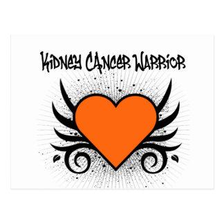 Kidney Cancer Warrior Heart Postcard