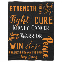Kidney Cancer Warrior large blanket