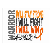 Kidney Cancer Warrior Postcard