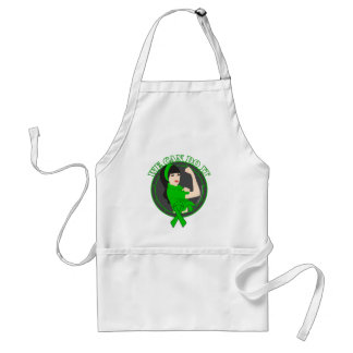 Kidney Cancer We Can Do It (Asian Rosie) Aprons