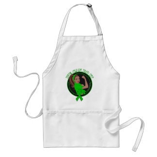 Kidney Cancer We Can Do It (Black Rosie) Aprons