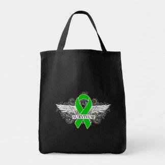 Kidney Cancer Winged SURVIVOR Ribbon Bag