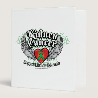 Kidney Cancer Wings 3 Ring Binder