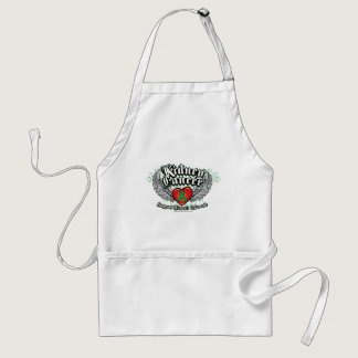 Kidney Cancer Wings Adult Apron