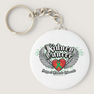 Kidney Cancer Wings Keychain