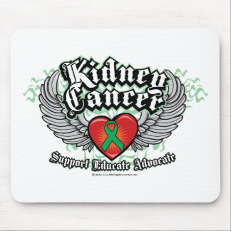 Kidney Cancer Wings Mouse Pad