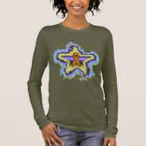 Kidney Cancer Wish Star Ladies Long Sleeve Shirt