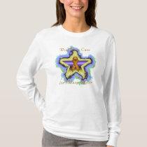 Kidney Cancer Wish Star Ladies Nano Long Sleeve T-Shirt