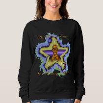 Kidney Cancer Wish Star Ladies Sweatshirt