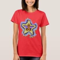 Kidney Cancer Wish Star Ladies T-Shirt