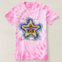 Kidney Cancer Wish Star Ladies Tie-Dye T-Shirt