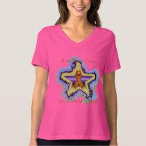 Kidney Cancer Wish Star Ladies V-Neck T-shirt
