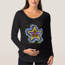 Kidney Cancer Wish Star Maternity Long Sleeve Maternity T-Shirt