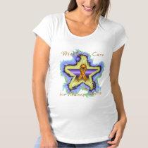 Kidney Cancer Wish Star Maternity T-Shirt