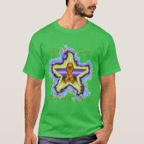 Kidney Cancer Wish Star Men's Dark T-Shirt