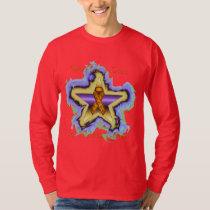 Kidney Cancer Wish Star Men's Long Sleeve T-Shirt