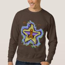Kidney Cancer Wish Star Men's Sweatshirt