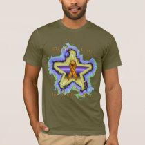 Kidney Cancer Wish Star Men's T-Shirt