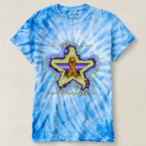 Kidney Cancer Wish Star Men's Tie-Dye T-shirt