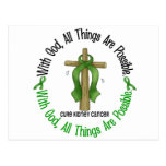 Kidney Cancer WITH GOD CROSS 1 Postcard