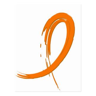 Kidney Cancer's Orange Ribbon A4 Postcard