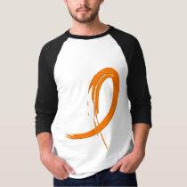 Kidney Cancer's Orange Ribbon A4 T-Shirt