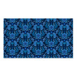 Kidney Damask in Navy Blue Double-Sided Standard Business Cards (Pack Of 100)