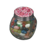 Kidney Damask in Pink Jelly Belly Candy Jars