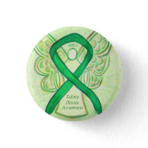 Kidney Disease Awareness Angel Ribbon Art Pin