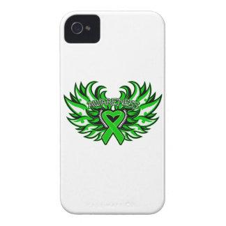 Kidney Disease Awareness Heart Wings iPhone 4 Case-Mate Case