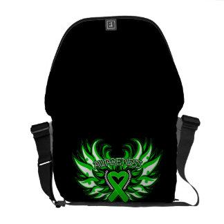 Kidney Disease Awareness Heart Wings Commuter Bags