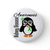 Kidney Disease Awareness Penguin Button