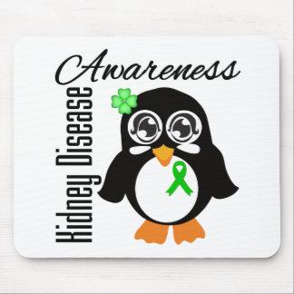 Kidney Disease Awareness Penguin Mousepads