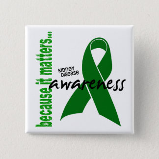 Kidney Disease Awareness Pinback Button