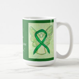 Kidney Disease Awareness Ribbon Angel Custom Mug