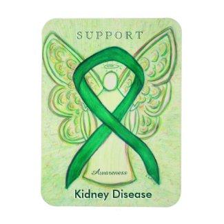 Kidney Disease Awareness Ribbon Angel Magnet Gifts