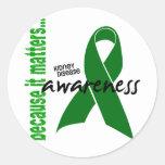Kidney Disease Awareness Round Stickers